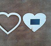 Материалы для творчества ручной работы. Ярмарка Мастеров - ручная работа Заготовка фоторамка сердце на магните. Handmade.
