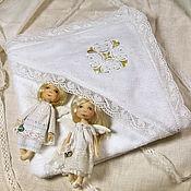 Работы для детей, ручной работы. Ярмарка Мастеров - ручная работа Крестильное полотенце с капюшоном. Handmade.