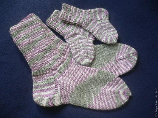"""Носки, Чулки ручной работы. Ярмарка Мастеров - ручная работа. Купить Носки """"Для мамы и малыша"""". Handmade. Носки для детей"""