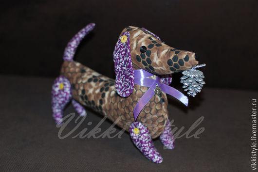 Игрушки животные, ручной работы. Ярмарка Мастеров - ручная работа. Купить Такса. Handmade. Комбинированный, авторская игрушка, текстильная кукла