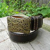 Аксессуары handmade. Livemaster - original item Men`s belt made of Buffalo leather.. Handmade.