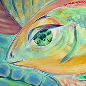 """Картины и панно ручной работы. Ярмарка Мастеров - ручная работа картина """"Рыба"""". Handmade."""