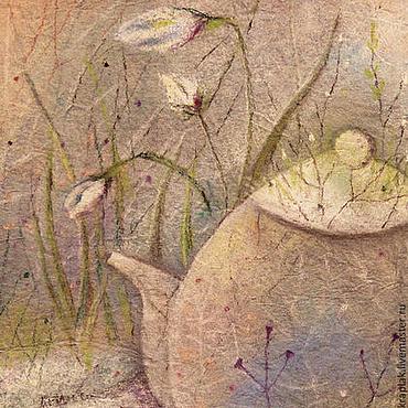 Картины и панно ручной работы. Ярмарка Мастеров - ручная работа Подснежниковый чай...Картина-принт на холсте.. Handmade.