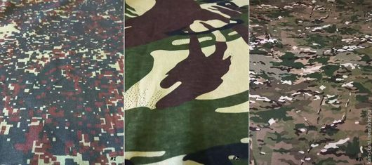 Шитье ручной работы. Ярмарка Мастеров - ручная работа. Купить Трикотажная ткань Камуфляж (3 цвета) (1,85х1м). Handmade.