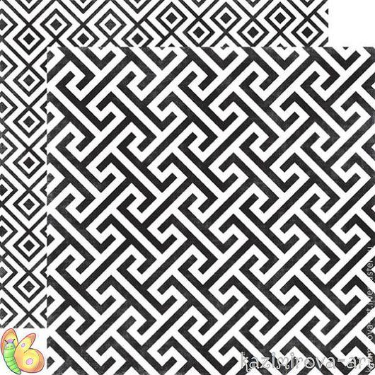 Открытки и скрапбукинг ручной работы. Ярмарка Мастеров - ручная работа. Купить Бумага 30х30 см Onyx Geometric. Handmade. Бумага