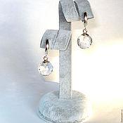 Украшения handmade. Livemaster - original item Earrings Mountain river, quartz 33,80 carat (a pair). Handmade.