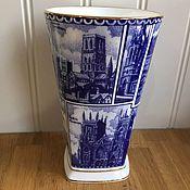 Винтаж handmade. Livemaster - original item Vase RINGTONES Landmarks England. Handmade.