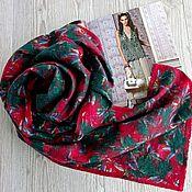 Аксессуары handmade. Livemaster - original item Emerald and red stole