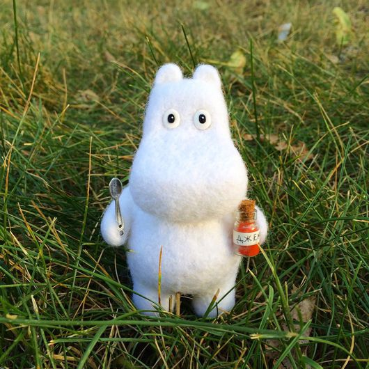 Сказочные персонажи ручной работы. Ярмарка Мастеров - ручная работа. Купить Муми-тролль (валяная игрушка). Handmade. Муми-тролли