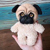 Куклы и игрушки handmade. Livemaster - original item Plush pug. Handmade.