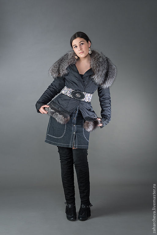 Верхняя одежда ручной работы. Ярмарка Мастеров - ручная работа. Купить куртка с чернобуркой. Handmade. Меховая куртка, Декор, кружево
