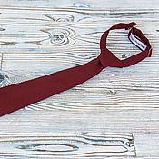 Аксессуары handmade. Livemaster - original item Kid`s tie Burgundy. Handmade.