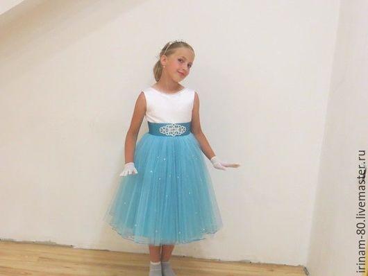 Одежда для девочек, ручной работы. Ярмарка Мастеров - ручная работа. Купить Нарядное платье для девочки. Handmade. Тёмно-бирюзовый, для девочки