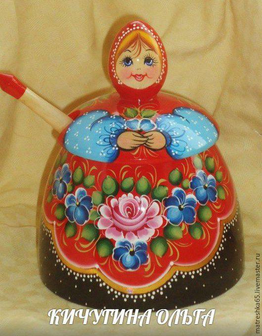 Подарочные наборы ручной работы. Ярмарка Мастеров - ручная работа. Купить сахарница с ложкой . изготавливается из дерева , расписанная в ручну. Handmade.
