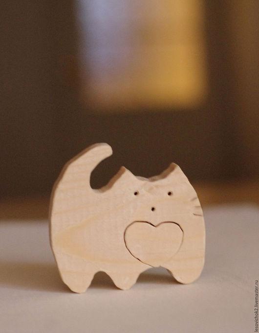 Декупаж и роспись ручной работы. Ярмарка Мастеров - ручная работа. Купить пазл сердечный кот. Handmade. Кот, Пазл, сердце