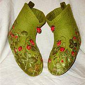 """Обувь ручной работы. Ярмарка Мастеров - ручная работа Валеночки """"Запах земляники"""". Handmade."""