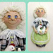 Для дома и интерьера ручной работы. Ярмарка Мастеров - ручная работа Кукла пакетница (для хранения целлофановых пакетов). Handmade.