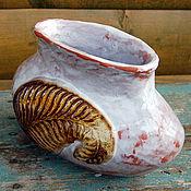 Для дома и интерьера ручной работы. Ярмарка Мастеров - ручная работа Ваза керамическая Лист. Handmade.