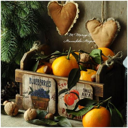 """Новый год 2017 ручной работы. Ярмарка Мастеров - ручная работа. Купить Ящик для фруктов и овощей """"Country"""". Handmade. Шкатулка, коробочка"""