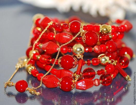 красный браслет; позолоченный браслет; купить позолоченный браслет; купить красный браслет; браслет с камнями; яркий браслет