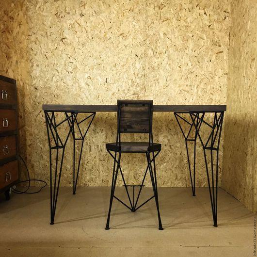 Мебель ручной работы. Ярмарка Мастеров - ручная работа. Купить Барный стул ROGER.. Handmade. Коричневый, лофт