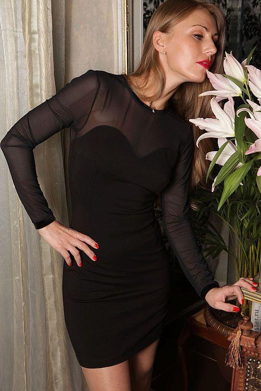 Платья ручной работы. Ярмарка Мастеров - ручная работа. Купить Вечернее платье с прозрачной спиной. Handmade. Черный, вечернее платье