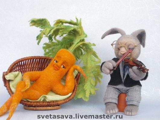 """Игрушки животные, ручной работы. Ярмарка Мастеров - ручная работа. Купить """"Серенада для любимой"""" или """"любовь-морковь"""". Handmade."""