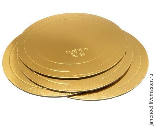 подложка усиленная, круглая, 300 мм, золото/жемчуг плотность бумаги 3,2 мм