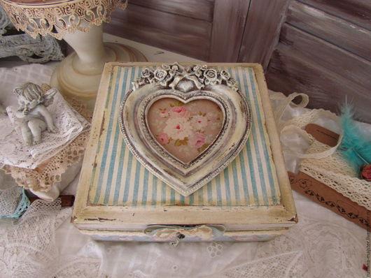 """Корзины, коробы ручной работы. Ярмарка Мастеров - ручная работа. Купить Короб  """"Волшебный ключ к сердцу.."""". Handmade. Голубой"""