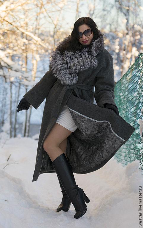 """Верхняя одежда ручной работы. Ярмарка Мастеров - ручная работа. Купить Пальто кашемировое """"Звезда пленительного счастья"""". Handmade. Серый"""