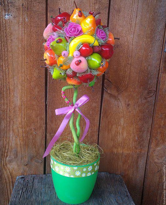 Персональные подарки ручной работы. Ярмарка Мастеров - ручная работа. Купить фруктовое дерево. Handmade. Комбинированный, топиарий