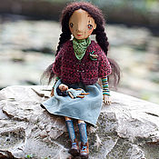 Куклы и игрушки ручной работы. Ярмарка Мастеров - ручная работа Можжевеловая девица с маленькой подружкой. Handmade.