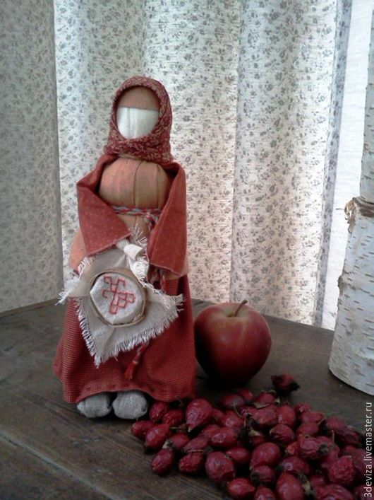 """Народные куклы ручной работы. Ярмарка Мастеров - ручная работа. Купить Кукла """"МАКОШЬ"""". Handmade. Оранжевый, тряпичная кукла"""