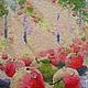 Пейзаж ручной работы. Ярмарка Мастеров - ручная работа. Купить Утро в яблоневом саду. Handmade. Разноцветный, авторская ручная работа