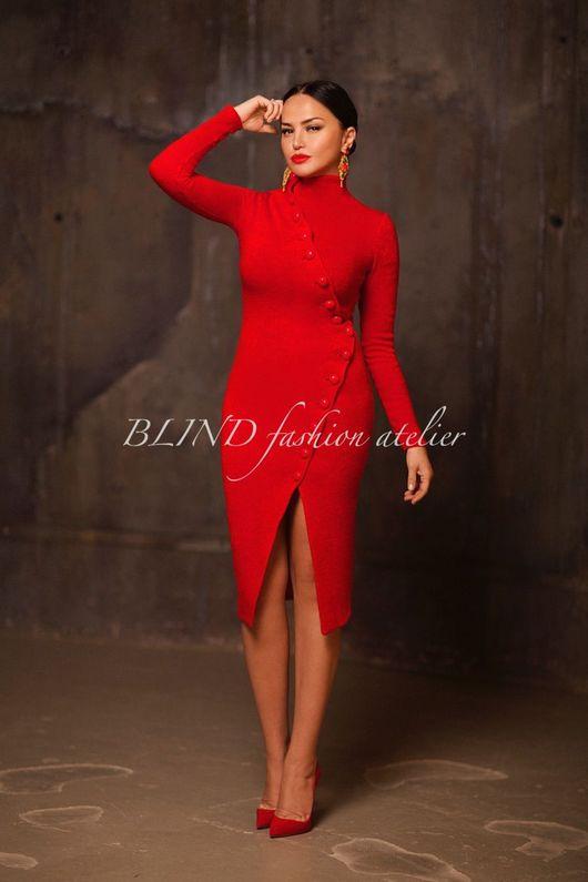 Платья ручной работы. Ярмарка Мастеров - ручная работа. Купить Платье 00275. Handmade. Ярко-красный