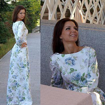 Одежда ручной работы. Ярмарка Мастеров - ручная работа Платье длинное Изящный прованс. Handmade.
