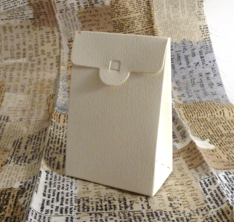 6х3,5х9 - кремовый (слоновая кость) коробочка-пакет из диайнерского ка, Бонбоньерки, Санкт-Петербург,  Фото №1