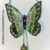 Подвески ручной работы. Ярмарка Мастеров - ручная работа Керамические бабочки. Handmade.