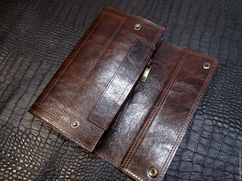 Purse clutch bag dark brown. large purse. Brown purse, Wallets, St. Petersburg,  Фото №1