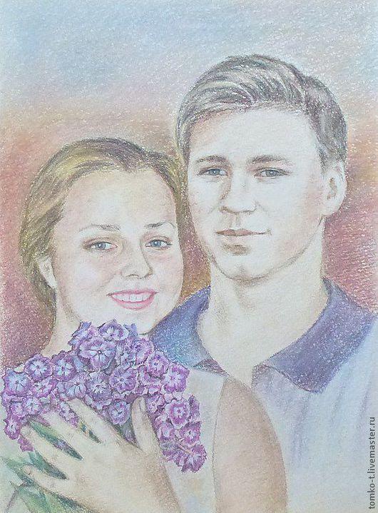 Портрет на заказ, пастель стоимость -3000 руб.