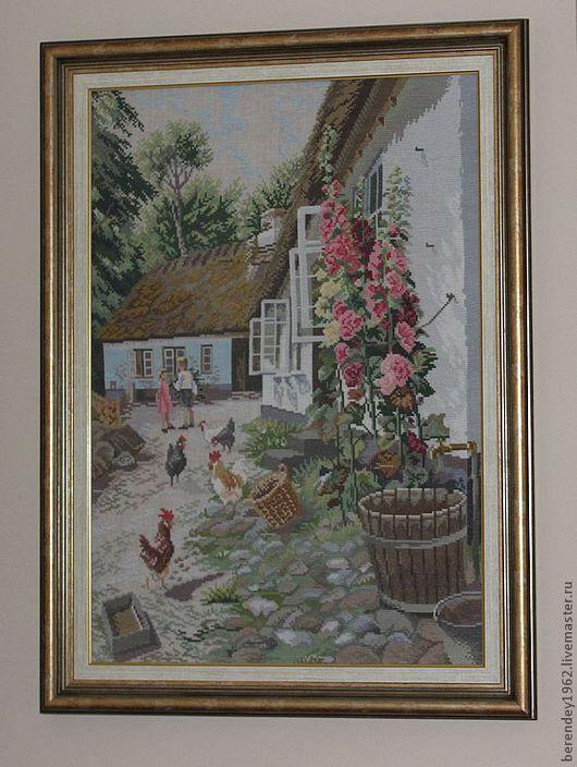 Пейзаж ручной работы. Ярмарка Мастеров - ручная работа. Купить Вышитая крестиком картина. Handmade. Вышитая картина, картина для интерьера