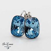 Украшения handmade. Livemaster - original item Swarovski earrings with Swarovski crystals_Blue Earrings. Handmade.