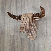 Panels handmade. Livemaster - original item The Head Of A Buffalo. Handmade.