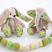 Куклы и игрушки ручной работы. Ярмарка Мастеров - ручная работа Слониха Эльза и Зайчиха Энни. Handmade.
