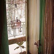 """Для дома и интерьера ручной работы. Ярмарка Мастеров - ручная работа вышивка на шторах """" древние чертежи"""". Handmade."""