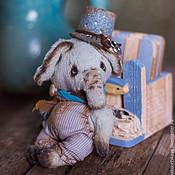 Куклы и игрушки ручной работы. Ярмарка Мастеров - ручная работа Слоненок Филипп - мишки тедди, друзья тедди. Handmade.