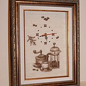 Часы ручной работы. Ярмарка Мастеров - ручная работа Часы Люблю кофе. Handmade.