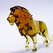 Для дома и интерьера handmade. Livemaster - original item Interior stained glass sculpture - Brave lion. Handmade.