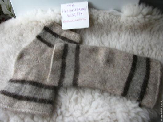 Носки, Чулки ручной работы. Ярмарка Мастеров - ручная работа. Купить Шерстяные наколенники из овечьей шерсти. Handmade. Темно-серый