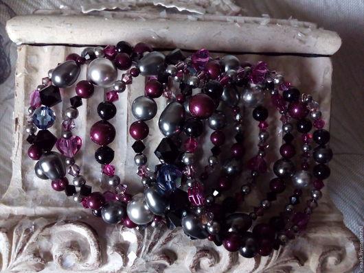 """Браслеты ручной работы. Ярмарка Мастеров - ручная работа. Купить Браслет"""" Blackberry """"0216. Handmade. Комбинированный, кристаллы сваровски (swarovski)"""